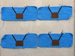 Four future crochet balloon panels for a International Balloon Fiesta yarn bomb (crochetbug13) Tags: crochet crocheted crocheting crochetyarnbomb crochetpanel doublecrochetpanel crochetballoon