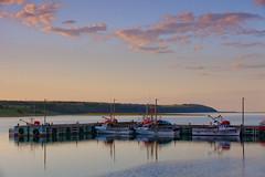 Cheticamp sunset (leehobbi) Tags: canada cheticamp cape breton island nova scotia waterfront harbor sunset boats explored