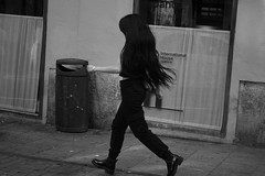 Girl 11 (dorieo21) Tags: streetphotography streets girl woman chica fille femme ragazza donna mujer bw blackandwhite blackhair blancoynegro blancetnoire blackwhite portrait retrato quotcity artistsfree artquot