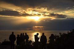 Sounion - sunset (athanecon) Tags: sounio sounion sunset light raysoflight lightrays sky sea clouds silhouettes people gazing chatting attica greece ships capesounion cape shine shinining ocaso coucherdesoleil tramonto