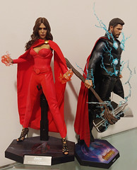 Scarlet Witch + Thor (becauseBATMAN) Tags: hot toys hottoys thor avengers scarlet witch wanda maximoff mutants 16 one sixth figure collection hex magic action figures stormbreaker