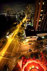 Waikiki at Night (David K. Werk) Tags: waikiki hawaii night city downtown view street buildings urban travel vacation nightlife