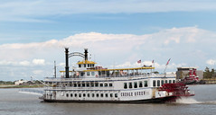 Paddlewheeler Creole Queen. (Bernard Spragg) Tags: paddlewheelercreolequeen neworleans boats ships travel riverboats mississippiriver lumix compactcameras cco