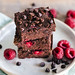 Coconut flour raspberry brownies
