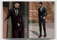 MINIMAL - Pierce Suit (MINIMAL Store) Tags: minimal pierce suit second life tmd eventsl full outfit jacket pants fatpackhud clothes