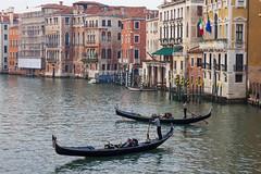 Gondolas on Grand Canal (sumi!) Tags: italy venice gondola grandcanal rialto veneto venezia