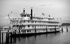 American Cruise Lines - Queen of the West (Explored) (SonjaPetersonPh♡tography) Tags: oregon columbiariver thequeenofthewest pacificnorthwest pnw cruiseship cruiseline americancruiselines boat vessel ship paddlewheeler paddlewheelriverboat passengers cabins sternwheeler nikon nikond5300 afsdxnikkor18300mmf3563gedvr river riverfront dock americancruiselinesfleet unitedstates us riverboatcruises riverboat
