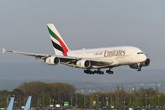 A6-EUZ Airbus A380-842 EGCC 20-04-19 (MarkP51) Tags: a6euz airbus a380842 a380 emiratesairlines ek uae manchester airport man egcc england airliner aircraft airplane plane image markp51 nikon d500 nikonafp70300fx sunshine sunny