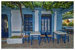 Resting under Grapes (WS Foto) Tags: pigadia karpathos greece griechenland griechischeinseln europe eu dodekanes dodecanes weinlaube taverne tavern green blue grün blau