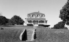 Block Island (neilsonabeel) Tags: blockisland rhodeisland house nikonfm2 nikon nikkor blackandwhite film analogue stairs