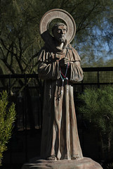 St Francis with Rosaries (Lawrence OP) Tags: francis saints rosary statue arizona
