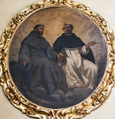 Our Holy Fathers in Holy Friendship (Lawrence OP) Tags: dominic francis saints florence hands friendship founders