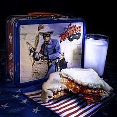 02469376422971-117-19-10-Childhood Memories Lone Ranger-2 (Don't Mess With Jim) Tags: 2019 fujifilmxt30 fujifilmxf1855mmlens october toys loneranger lunch sandwich memories milk