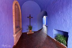 The blue chapel (marko.erman) Tags: arequipa peru latinamerica southamerica santacatalina monasterio chapel colonialstyle blue sony famous popular travel cross religion
