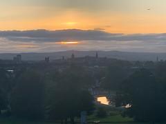 Sunset over Paisley (markshephard800) Tags: clouds park barshawpark sunset paisley scotland