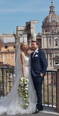 (Uno100) Tags: rome roma italy married couple bride groom happy day white dress flowers 2019