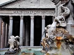 (Uno100) Tags: italy rome roma fountain phanteon pantheon panteon fish water 2019