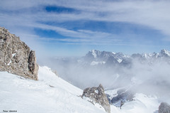 winter mountains in clouds (peter-goettlich) Tags: hochwanning zugspitze wetterstein tirol austria ehrwald biberwier mountain winter snow fog clouds österreich berg schnee nebel wolken alpinism skitour