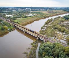 66722 at Gainsborough Trent Junctions (robmcrorie) Tags: gbrf class 66 river trent gainsborough junctions phantom 4 66722
