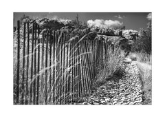 romantic solitude fence (Armin Fuchs) Tags: arminfuchs nomansland fence hff niftyfifty clouds stones diagonal anonymousvisitor thomaslistl wolfiwolf jazzinbaggies