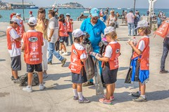 Coastal Cleanup Day (stevefge) Tags: 2019 coastalcleanupday kusadasi turkey people street candid unsuspectingprotagonists unsuspecting kids kinderen children boys girls shadows caps plastic nikon reflectyourworld