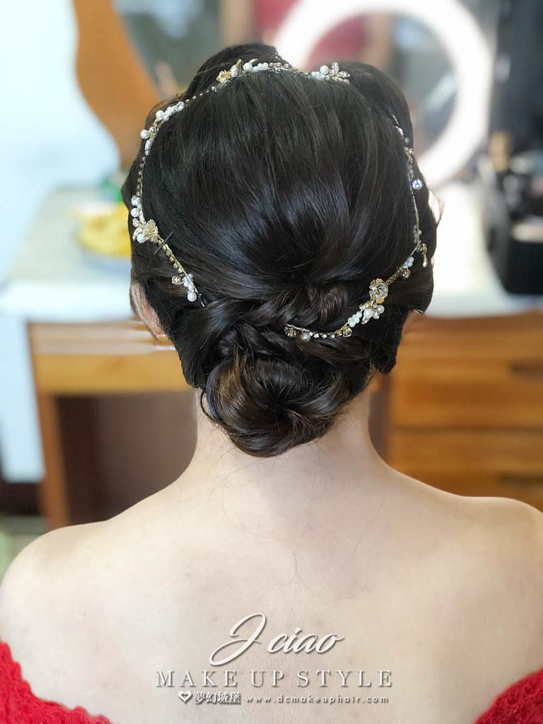 【新秘婕喬】bride雅熏 訂婚造型 / 韓式盤髮