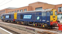 Stabled at York (Jeff Mckever) Tags: 20302 20303 drs york diesellocomotives 3rdoctober2019 class20
