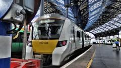 Thameslink 700146 at Brighton Railway Station. (ManOfYorkshire) Tags: siemens thamselink train railway emu electric multiple unit thirdrail brighton roof station trainshed class700 700146