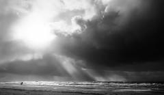 Foto (teun_van_dijk) Tags: texel 02 beach clouds stormyweather blackandwhite bw sky storm teunvandijk landscape fuji
