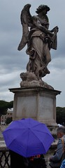 (Uno100) Tags: italy rome roma flag tri colore statue angel angels marble castle 2019