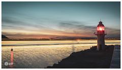 Light Seas (picturedevon.co.uk) Tags: breakwater lighthouse brixham torbay devon england uk eu le light sunset dusk sky clouds water sea color blue red orange yellow waves black shadow silhouette dark night coast sonya7rii 3leggedthing picturedevoncouk