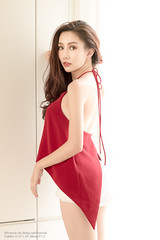Pimonpun (Francis.Ho) Tags: red pimonpun thai xt2 fujifilm girl woman female femme lady portrait people beauty pretty lips eyes hair face elegant glamour young sensuality fashion naturallight fashionable attractive stylish sleevelessdress pajamas lingerie body sexy panties underwear lace