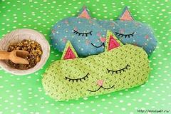 طريقة صنع وسائد على شكل قطة لتزيين غرف الاطفال (ezo-handmade) Tags: افكار الطرز و الخياطة خياطة وسائد sewing