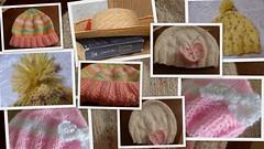 headwear (amalia_mar) Tags: headwear lookingcloseonfriday collage knitting sundaylights details caps hats handmade