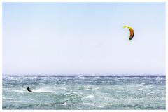 Kitesurfing in strong wind (Pyc Assaut) Tags: kitesurfing strong wind kitesurfinginstrongwind espagne spain costabrava sport merméditerranée mer sea vent pyc5pycphotography pycassaut pierreyvescugni pierreyvescugniphotography extérieur nikon nikond7100 d7100 voile power powerofthewind surf kite tramontane