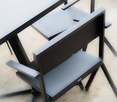 SoftChair1.jpg (Klaus Ressmann) Tags: klaus ressmann omd em1 abstract fparis france fondationcartier spring chairs design flicvarious softtones table klausressmann omdem1