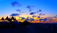 tramonto a san giuliano (archgionni) Tags: spiaggia beach sera evening mare sea adriatico acqua water vacanze vacations cielo sky nuvole clouds silhouettes colori colors luce light tramonto sunset rimini italy