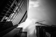 Commerzbank Tower (s.W.s.) Tags: frankfurt germany deutschland skyscraper architecture architectural city building sky urban clouds neutraldensity longexposure blackandwhite commerzbanktower nikon lightroom