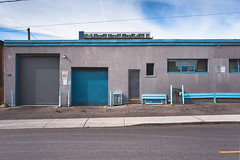 for.the.time.being (jonathancastellino) Tags: toronto shadow architecture leica q ordinary building road sidewalk garage blue series vernacular sky ngc