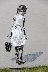 Streetart Tromsø (Elbmaedchen) Tags: streetart art travelphoto mural tromsø norge norwegen norway lonelygirl