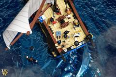 Do You Yield? (Dread Pirate Wesley) Tags: lego moc vignette ship frigate masterandcommander battle sea navy royalnavy french british ocean sail napoleon nelson