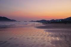 bfds (Ruby Augusto) Tags: litoralnortepaulista sunset pôrdosol beach praiaoceânica sand ripples reflexos reflection brazil brasil