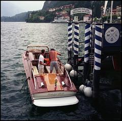 Rolleis Lake Como Experience 2019 (812) (Hans Kerensky) Tags: rolleiflex 35c 6x6 tlr fujifilm pro 160ns scanner plustek opticfilm 120 menaggio lake como italy 2019 harbor boat tidying up