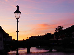 Lantern at sunset (zinnia2012) Tags: lantern switzerland lucerne sunset river