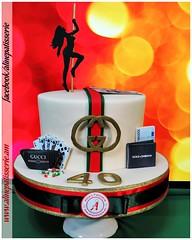 A birthday cake for glamorous guy (alinepatisserie) Tags: cake cakeart cakeartist cakelove cakestudio cakeboutique edible handmade almond marzipan