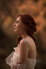 Last Light ({jessica drossin}) Tags: jessicadrossin face profile pretty red hair head white dress shoulders portrait wwwjessicadrossincom sunset golden hour