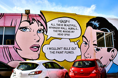 People Are Talking (Giancarlo Lalsingh) Tags: art artist street streetart streetphotography streetphoto graffiti streetview adventure explore popart popculture mural architecture architecturalphoto architecturalphotography travel travelphoto travelphotography place places usa florida miami wynwood people sony sonyalpha bealpha sonyalphaclub sonyworldclub flickr flickrphotographer gayphotographer photographer photography