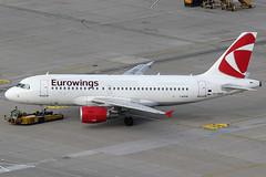 Eurowings Airbus 319-112 OK-REQ (c/n 4713) Hybrid colours with CSA-logo. (Manfred Saitz) Tags: vienna airport schwechat vie loww flughafen wien eurowings airbus 319 a319 okreq okreg csa