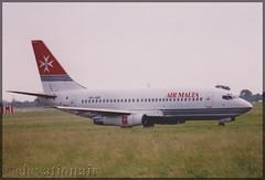 9H-ABF Boeing 737-2Y5 Air Malta (elevationair ✈) Tags: dub eidw dublin airport dublinairport ireland film scanned print avgeek aviaiton airplane plane aircraft summer boeing 737 732 airmalta 9habf