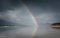 Double rainbow (He Ro.) Tags: schottland scotland winter hebrides outerhebrides luskentyre luskentyrebeach lowtide reflections spiegelungen regenbogen rainbow sand beach sea westernisles nature uk